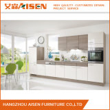 Bar Handle Modern White Glossy Lacquer Kitchen Cabinet