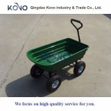 75L Dumper Garden Cart with Plastic Tray