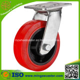 Heavy Duty PU Mold on Black Plastic Wheel