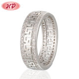 18K 14K Gold Plated Fashion Wedding Stainless Steel Silver Man Finger Rings Design Engagement Jewelry