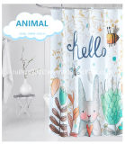 Animal Rabbit Design Curtains Kids Shower Curtain Animal Series