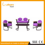 Latest Design Reception Room Cloth Art Aluminium Alloy Sofa Set Indoor Furniture