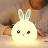 Rabbit LED Night Light 7 Color Changing Bedroom Desk Table Lamp for Kids