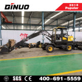 Hot Sale 7.5 Ton Chinese Wheel Excavator with 0.3m3 Bucket