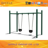 Outdoor Double Swing with Baby Seats for Amusement Park (QTL-3602)
