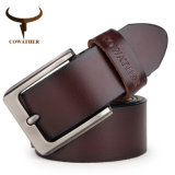 Cowather Men Belt Cow Genuine Leather Luxury Strap Male Belts for Men New Fashion Classice Vintage Pin Buckle Dropshipping