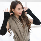 New Design Knitting Arm Warmer, Girls Mittens, Cotton & Acrylic Knit Gloves for Wholesale