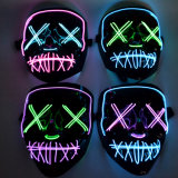 Halloween Scary Mask Cosplay LED Costume LED Mask EL Wire Light up for Halloween Festival Party
