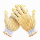 Cotton Work Gloves with Rubber Grip Dots in Guangzhou