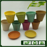 Anhui Wholesale Biodegradable and Eco Round Bamboo Fiber Plant Flower Pot