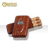 Gift Set Cigar Cutter with PU Leather Cigar Case