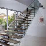 Prima Indoors Modern Design Steel Wood Prefabricated Straight Staircase