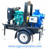 Two/Four-Wheel Trailer Diesel Engine Duplex Stainless Steel Non-Clogging Chemical Waste Sewage Sea Water Gorman-Rupp Flood Control Self-Priming Centrifugal Pump