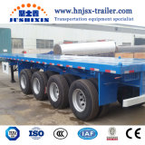 Cheap Loading 4 Axle 40FT Container Flatbed Heavy Duty Truck Trailer