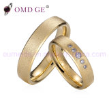 Fancy Gold Plated Steel Finger Rings for Couple