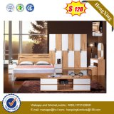 Wholesale HPL MDF Wooden Hotel Furniture Queen Size Bedroom Bed UL-L604