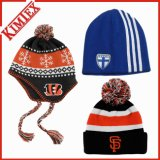 Winter Acrylic Jacquard Cap Hat, Gameday Giveaway Knitting Knitted Hat
