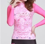 2016 Body Shape Lady′s Wetsuit & Long Sleeve Printed Beachwear (727)