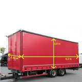 PVC Clear Vinyl Coated Waterproof Polyester Fabric Canvas Tarpaulin for Side Cutrain Trailer