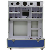 Multi-Function LED Display Cabinet with Wheels