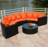 Circular Outdoor Sofa Garden Sofa Wicker Furniture Rattan Sofa Outdoor Furniture S202