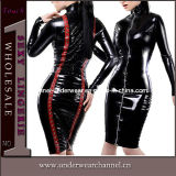 Sexy Fancy Leather Long Sleeves Dresses Party Costume (TP747)