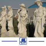 White Marble European Hero Caving Statues Carving Sculpture with Angel, Madonna, Budda and So on