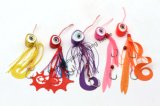 JJ-W-011 new arrival fishing tackle tie rubber fishing lure sticker lure