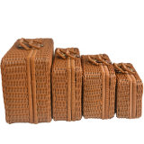Promotion Gifts Handmade Rattan Wicker Woven Wine Box Case