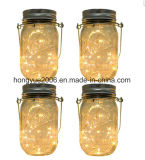 Garden Hanging Solar Garden Jar Light with 20PCS Micro Warm White String LED