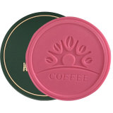 Round Shape 3D Plastic Rubber Soft PVC Coaster, Rubber Drink Coasters