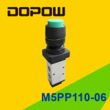 M5PP110-06 Latching Manual Mechanical Valve 2 Position 5 Way