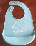 New Arrival Soft Customized Baby Silicone Bibs in Pink Blue