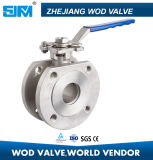 """3/4"""" Stainless Steel CF8m Wafer Narrow Type Flanged Ball Valve with Safety Lock"""