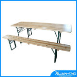Wood Dining Table with Folding System