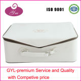 Professional White PU Leather Cosmetic Case