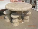 Marble Statue Stone Carving Marble Table Chair for Patio