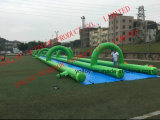 300m Slip Slide The City Inflatable Water Slide Toys for Adault