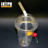 Customized Plastic Clear Juice Cup with Lid