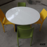 Elegant Smooth Surface Round Artificial Stone Dining Tables