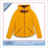 Women Ladies Winter Padded Jacket with Stand Collar