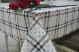 Classic Lattice Burberry Style Patterns Polyester Fabric Backing PVC Tablecloth