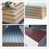 15mm 18mm Melamine Faced Slatwall MDF/Slot MDF Board / Slotted MDF