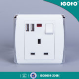 Igoto British Standard 13A Wall Switch Socket USB Wall Switch Socket