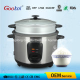 Stainelss Steel Body Glass Lid Steamer Rice Cooker 1.8L 2.2L 2.8L