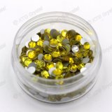 Ss5 1.7-1.8mm Citrine Color Round Flat Backs Non Hotfix Rhinestones