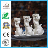 Cute Resin Craft Cat Sculpturetealight Candle Holder