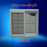PVC Double Insulating Glass Sliding Window with Grills