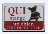 Popular Craft Warning Metal Dog Sign Plaque Wall Art