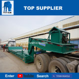 Titan 3-5axles 60-Ton Hydraulic Front Loading Low Boy Detachable Goose Neck Low Loaders Trailer Price